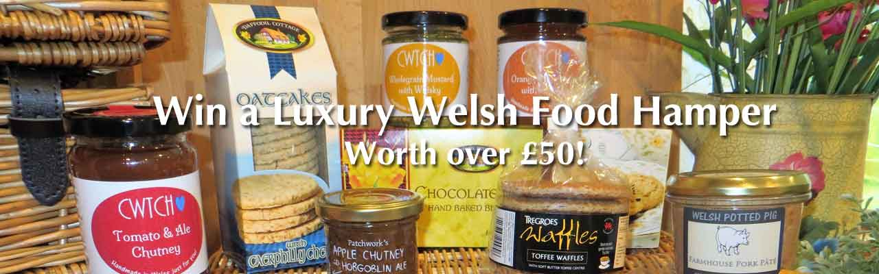 Win luxury Welsh food hamper